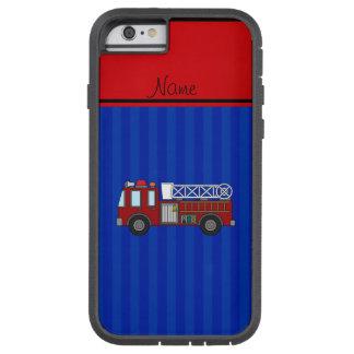 名前入りな一流の普通消防車の青い縞 TOUGH XTREME iPhone 6 ケース