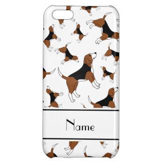 名前入りな一流の白いビーグル犬犬パターン iPhone5Cケース
