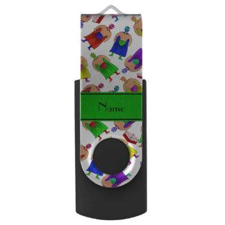 名前入りな一流の白いメキシコレスリング USBフラッシュドライブ