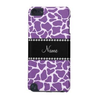 名前入りな一流の紫色のキリンパターン iPod TOUCH 5G ケース