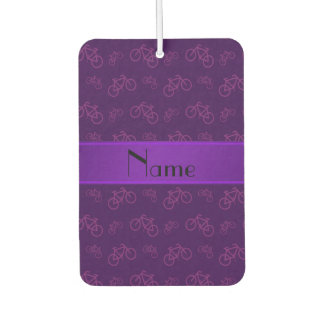 名前入りな一流の紫色の自転車 カーエアーフレッシュナー