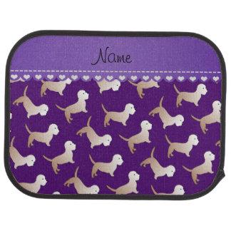 名前入りな一流の紫色のdandieのdinmontテリア カーマット