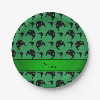 名前入りな一流の緑の相撲レスリング ペーパープレート