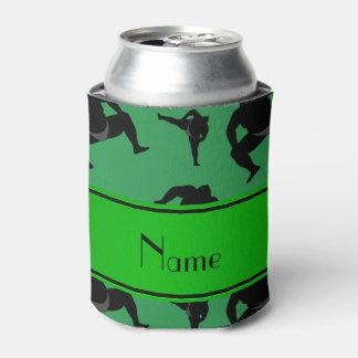 名前入りな一流の緑の相撲レスリング 缶クーラー
