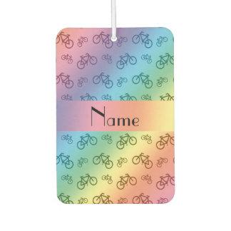 名前入りな一流の虹の自転車 カーエアーフレッシュナー