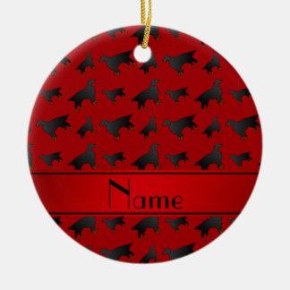 名前入りな一流の赤いゴードンセッター犬 セラミックオーナメント