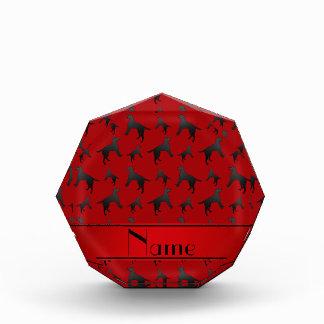 名前入りな一流の赤いラブラドル・レトリーバー犬犬 表彰盾