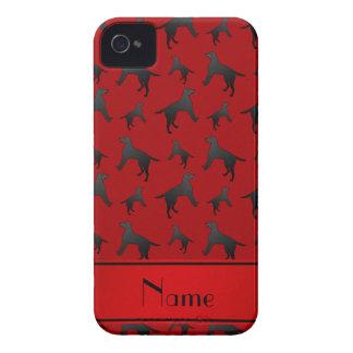 名前入りな一流の赤いラブラドル・レトリーバー犬犬 Case-Mate iPhone 4 ケース