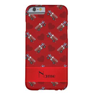名前入りな一流の赤い普通消防車のハート BARELY THERE iPhone 6 ケース