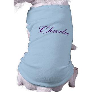 名前入りな一流の飼い犬の衣類のTシャツ、上 ペット服