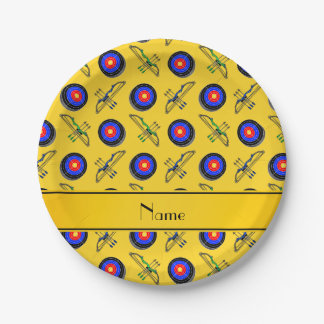名前入りな一流の黄色いアーチェリー ペーパープレート