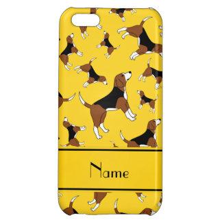 名前入りな一流の黄色いビーグル犬犬パターン iPhone5Cケース