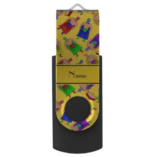 名前入りな一流の黄色いメキシコレスリング USBフラッシュドライブ