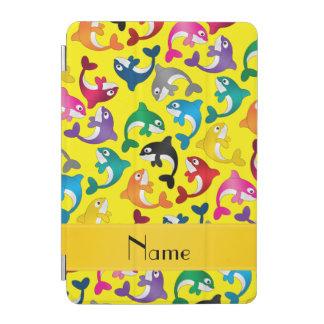 名前入りな一流の黄色い虹のシャチ iPad MINIカバー