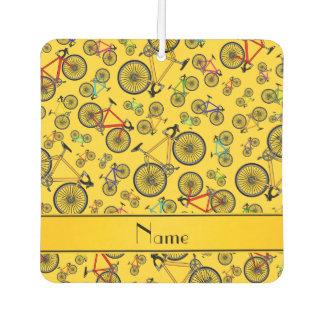 名前入りな一流の黄色い道のバイク カーエアーフレッシュナー