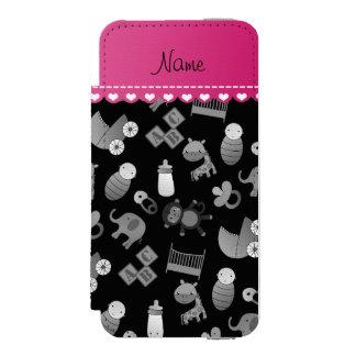 名前入りな一流の黒いベビー動物 INCIPIO WATSON™ iPhone 5 財布 ケース