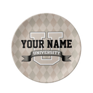 名前入りな一流大学カッコいいのおもしろいな大学 磁器プレート