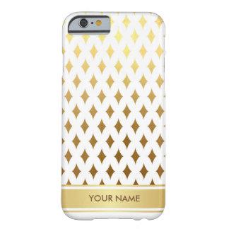 名前入りな一突きの王室ので魅力的なホワイトゴールドの箱 BARELY THERE iPhone 6 ケース