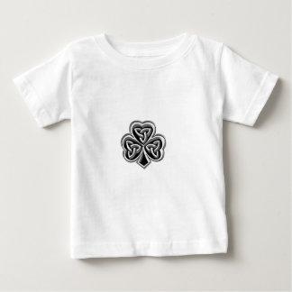 名前入りな上品なアイルランドの幸運なシャムロック ベビーTシャツ