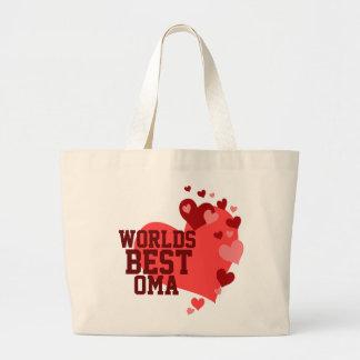 名前入りな世界最も最高のなOma ラージトートバッグ