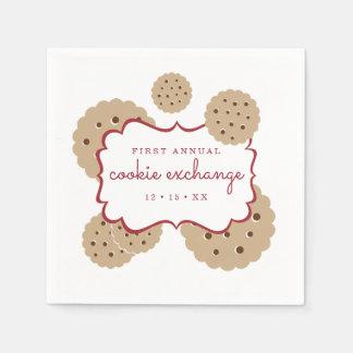 名前入りな休日のクッキー交換 スタンダードカクテルナプキン