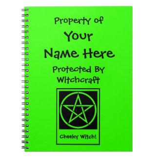 名前入りな保護されたウィッカ信者のノート ノートブック