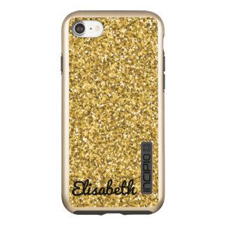 名前入りな傾向の贅沢な金ゴールドによって印刷されるグリッター INCIPIO DualPro SHINE iPhone 8/7ケース