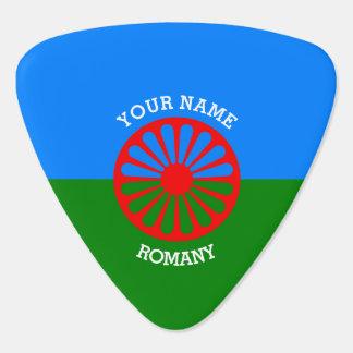 名前入りな公式のRomanyのジプシーの旅行者の旗 ギターピック