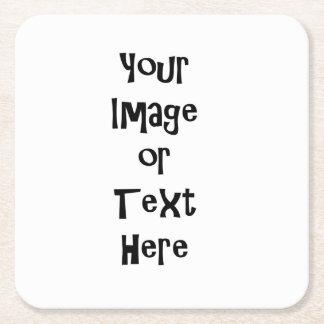 名前入りな写真および文字とカスタマイズ スクエアペーパーコースター