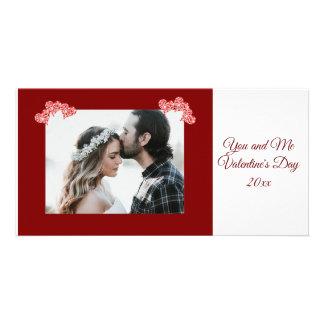 名前入りな写真のバレンタインデーのハートカード カード