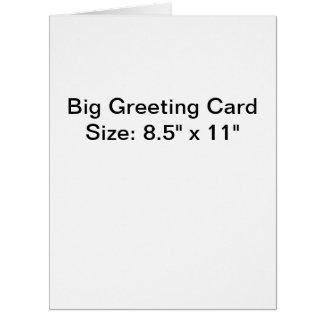 名前入りな写真の大きい挨拶状 ビッググリーティーングカード