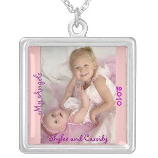 名前入りな写真の純銀製のネックレス シルバープレートネックレス