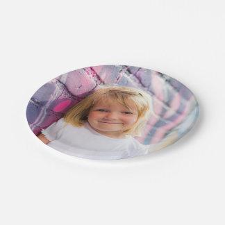 名前入りな写真の紙皿の子供のパーティ ペーパープレート