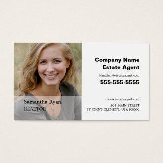 名前入りな写真、不動産仲介業者、不動産業者 名刺