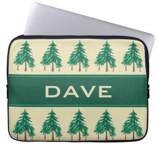 名前入りな冬の常緑樹の屋外の熱狂者 ラップトップスリーブ
