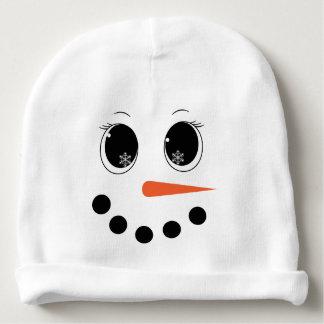 名前入りな冬のSnowgirlのベビーの帽子の帽子 ベビービーニー