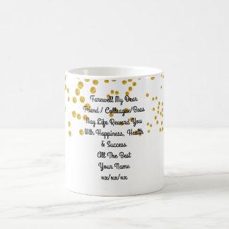 名前入りな別れのギフトの同僚の友人のボス コーヒーマグカップ