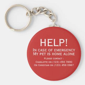 名前入りな助けペット家の緊急の接触だけ キーホルダー