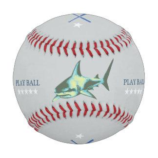 名前入りな勇敢な鮫のbaseballer 野球ボール