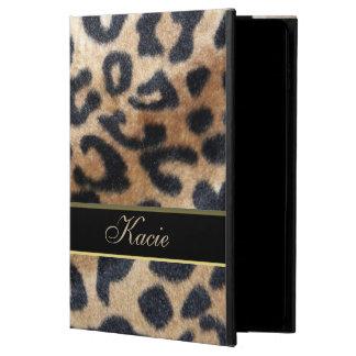 名前入りな動物のヒョウのプリントのiPadの空気2箱 Powis iPad Air 2 ケース