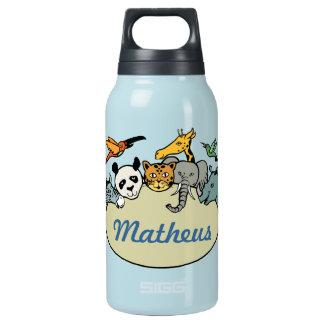 名前入りな動物園家族動物 断熱ウォーターボトル