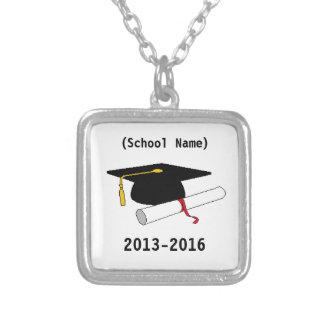 名前入りな卒業の鎖 シルバープレートネックレス