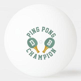 名前入りな卓球のチャンピオンのピンポン球 卓球ボール