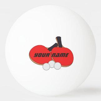 名前入りな卓球の赤い黒 卓球ボール