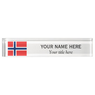 名前入りな名前およびカスタムのタイトルのノルウェー人の旗