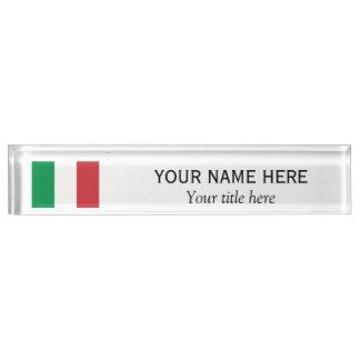 名前入りな名前およびタイトルのイタリアンな国旗