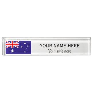 名前入りな名前およびタイトルのオーストラリア人の旗