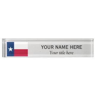 名前入りな名前およびタイトルのテキサス州の州の旗