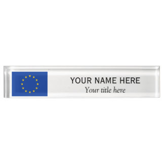 名前入りな名前およびタイトルの欧州連合EUの旗