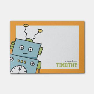 名前入りな名前のかわいく青いロボット ポストイット
